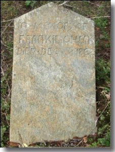 Gravestone of Frankie Crouse Cheek