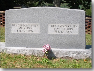 Henderson and Lucy Cheek Gravestone