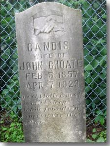 Gravestone of Candis Cheek Choate