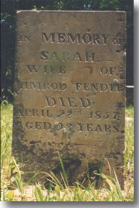 photo of Sarah Fender Gravestone