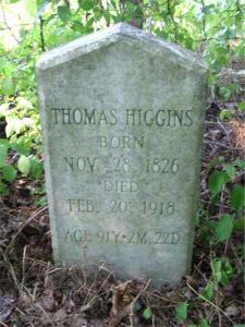 Thomas Higgins gravestone