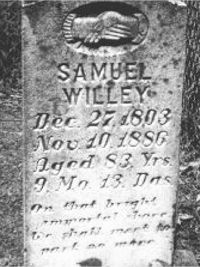 Samuel Willey gravestone
