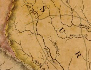 1833 Map of Fishers River, Surry Co., NC