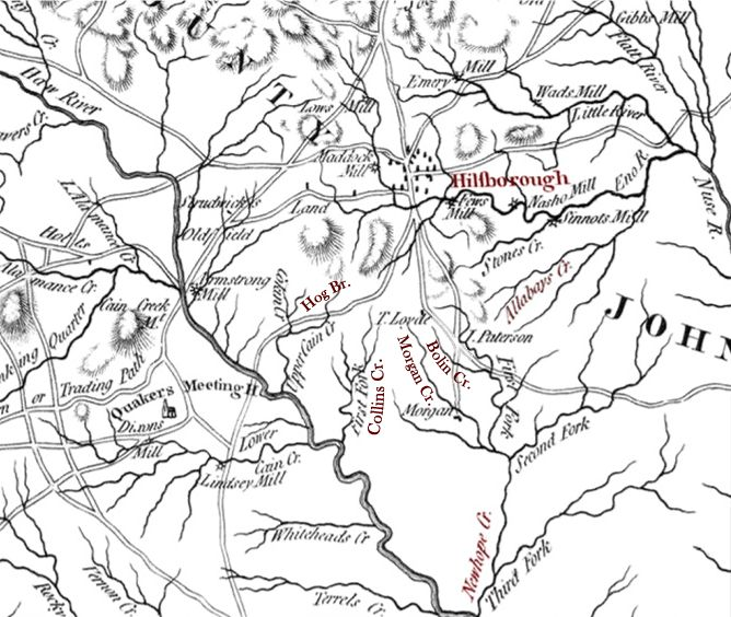 Map of Orange Co., NC